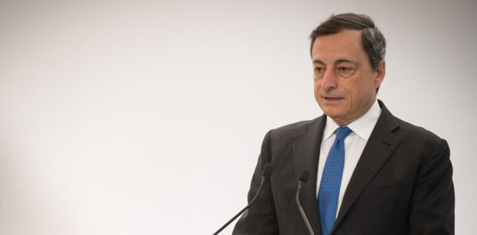 Mario Draghi, President of the ECB, delivers the Marjolin lecture at the SUERF conference organized by the Deutsche Bundesbank, in Frankfurt on 4 February 2016. Robert Marjolin was a pivotal figure in the birth of Economic and Monetary Union. (ECB Audiovisual Services).