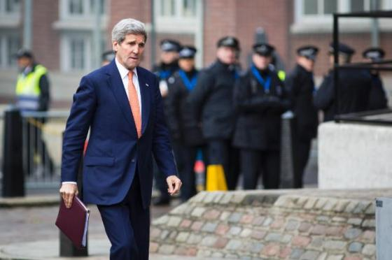 """Arrival of John Kerry, US Secretary of State in the conference """"Supporting Syria and the Region"""". The event was co-organized by the Britain, Germany, Kuwait, Norway and the United Nations. Date: 04/02/2016. Location: London. © European Union, 2016 / Source: EC - Audiovisual Service / Photo: Jack Taylor."""