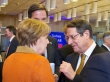 Meeting of Heads of State or Government of the EU and Turkey. From left to right: Ms Angela MERKEL, German Federal Chancellor; Mr Mark RUTTE, Dutch Prime Minister; Mr Nicos ANASTASIADES, President of Cyprus. (EU Council Newsroom, 07/03/2016)