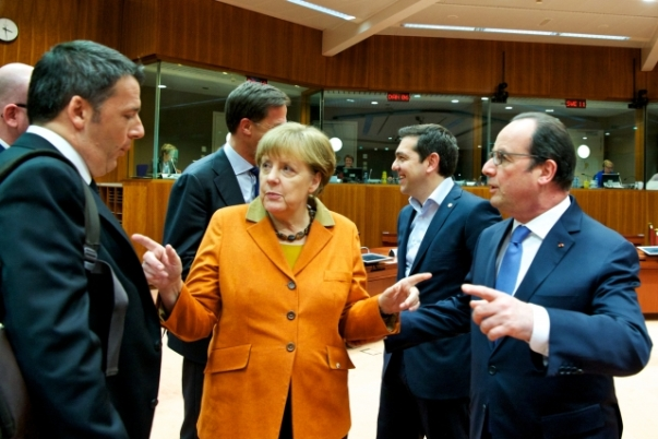 Renzi ATsipras Merkel Holland 7 March 2016 Migration