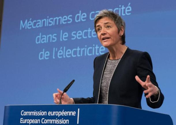 Press conference by Margrethe Vestager, Member of the EC, on Interim Report of the State aid Sector Inquiry on Capacity Mechanisms Date: 13/04/2016. Location: Brussels – EC/Berlaymont. © European Union, 2016 / Source: EC – Audiovisual Service / Photo: Georges Boulougouris.