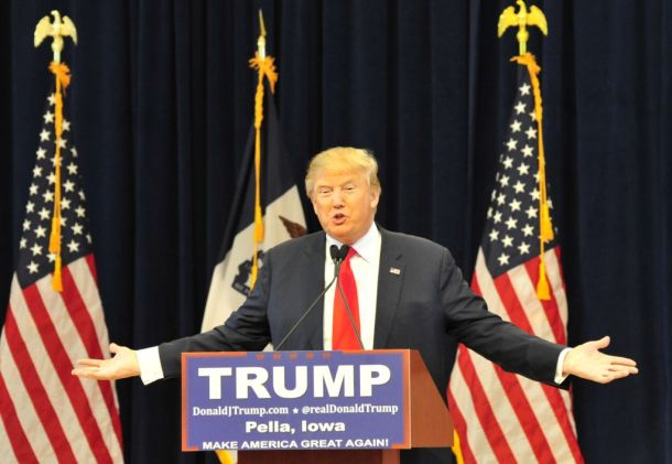 Donald Trump in Pella, Iowa, US. (Gallery Archive: On The Campaign Trail with Donald J. Trump. January 23, 2016).