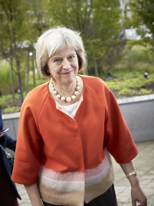 Mrs Theresa May, UK's new Prime Minister, at Justice and Home Affairs Council as Secretary of Home Affairs (European Council Newsroom, 2015)