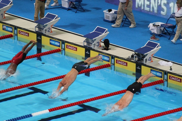 Giles_Smith,_Michael_Phelps,_Davis_Tarwater_2012_US_Olympic_Trials