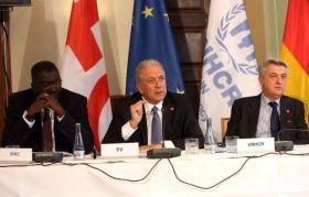 Dimitris Avramopoulos, Member of the EC in charge of Migration, Home Affairs and Citizenship, visited Berlin in the context of a meeting with global migration stakeholders to discuss common challenges on refugee crisis. © European Union , 2016   /  Source: EC - Audiovisual Service   /   Photo: Adam Berry.