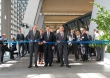 Inauguration of the European Central Bank's new premises on 18 March 2015 in Frankfurt am Main, Germany. Mario Draghi (in the middle) cuts the ribbon. (European Central Bank Audiovisual Services).