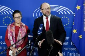 Martin Schulz, European Parliament President meets with Chrystia Freeland, Minister of Trade of Canada in a last ditch effort to save the much disputed Comprehensive Economic and Trade Agreement -CETA between the EU and Canada. Event Date: 22/10/2016. City: Brussels. Copyright: © European Union 2016 - Source: EP.