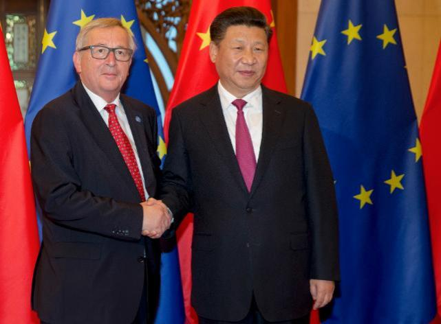 EU/China Summit, 12-13/07/2016. Handshake between Xi Jinping, President of the People's Republic of China, on the right, and Jean-Claude Juncker President of the Eueopean Commission. Date: 12/07/2016. Location: Beijing, China - Diaoyutai State Guesthouse. © European Union , 2016 / Source: EC - Audiovisual Service / Photo: Olli Geibel.