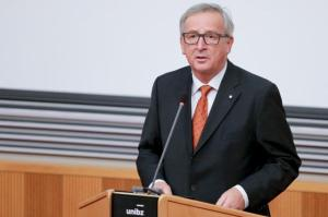 "Jean-Claude Juncker, President of the EC, went to Bolzano where he met with Arno Kompatscher, Governor of South Tyrol. The President then made a speech entitled ""Autonomy and Federalism in Europe"", at the Free University of Bolzano (Freien Universität Bozen - Unibz), on the occasion of the 70th anniversary of the Paris Peace Conference of 1919. Date: 18/11/2016   Reference: P-032984/00-08   Location: Bolzano - Unibz. © European Union , 2016   /  Source: EC - Audiovisual Service   /   Photo: Pierre Teyssot."