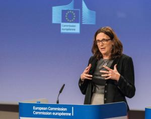 Cecilia Malmström, EU Commissioner responsible for Trade. Date: 09/11/2016   Reference: P-032907/00-14   Location: Brussels - EC/Berlaymont. © European Union , 2016   /  Source: EC - Audiovisual Service   /   Photo: Georges Boulougouris.