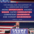 Trump promised the Americans higher wages and more opportunities to get to the White House. He has already failed them on both accounts and more. (Gallery Archive, from 'The Campaign Trail with Donald J. Trump'. Donald J. Trump for President, Inc.)