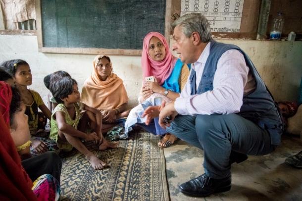 Rohingya Camp Filippo Grandi UNHCR