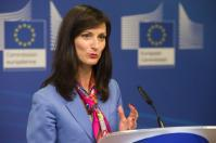 Press conference by Mariya Gabriel, Member of the EC, and Madeleine de Cock Buning, Chair of the High-Level Expert Group on fake news and online disinformation Date: 12/03/2018 Location: Brussels - EC/Berlaymont © European Union , 2018. Source: EC - Audiovisual Service Photo: Lukasz Kobus