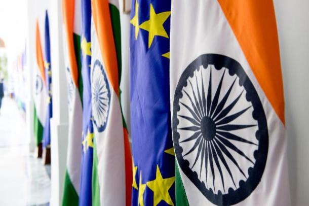 EU and Indian flags at EU-India Summit in New Delhi last October (copyright EU 2018, Source: EC - Audiovisual Service)