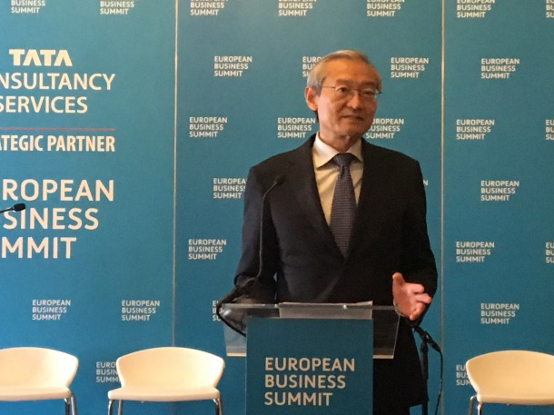 Ambassador Zhang Ming European Business Summit 2018