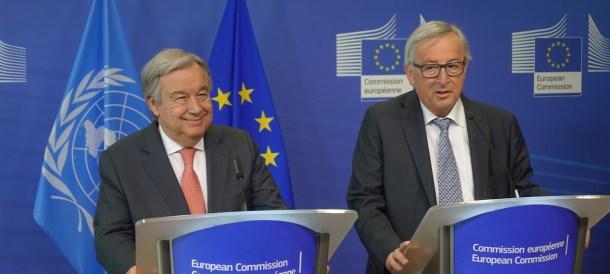 Gutteres Juncker Brussels 2018