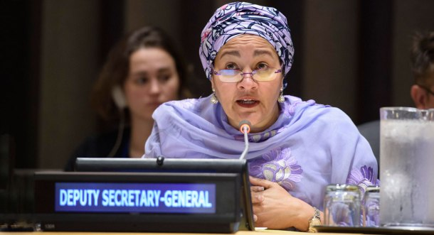 "Deputy Secretary-General Amina Mohammed addresses the UN Forum on the Question of Palestine: ""70 Years after 1948 – Lessons to Achieve a Sustainable Peace""."