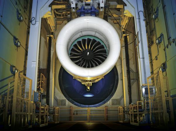 A geared turbofan at Pratt & Whitney's production hub in West Palm Beach (copyright: Pratt & Whitney - a UTC Company- 2018; Source: Pratt & Whitney's website, media center)