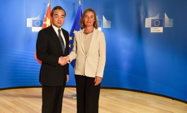Federica Mognerini Foreign Minister Wang Yi 01 June 2018