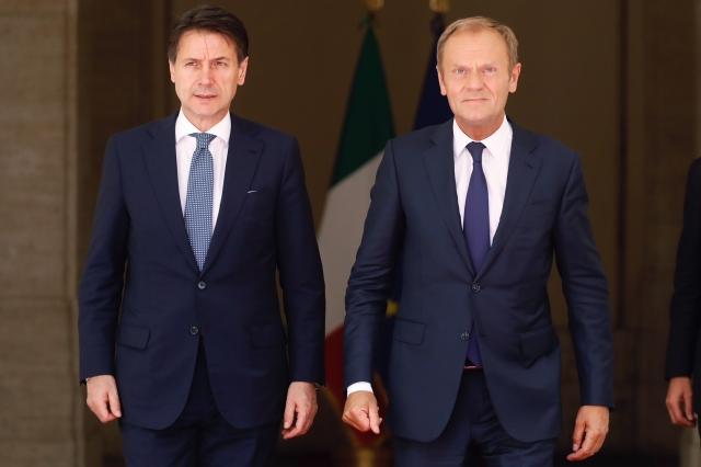 Giuseppe Conte Donald Tusk 2018