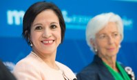 June 15, 2018. Lea Giménez Duarte, Paraguay's Finance Minister speaking at IMF World-Bank Spring meetings seminar Restoring Trust by Curbing Corruption (photo: IMF)