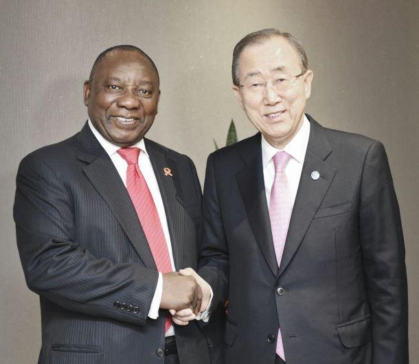 Ramaphosa Ban Ki moon UN 2018