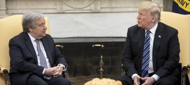 Trump Gutteres White House 2018