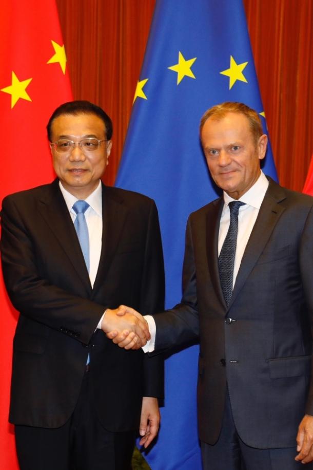 China- EU Summit 2018 Tusk Kequiang