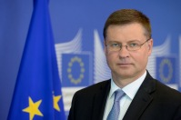 Valdis Dombrovski, Vice-President of the EC in charge of the Euro and Social Dialogue poses for an internal portrait