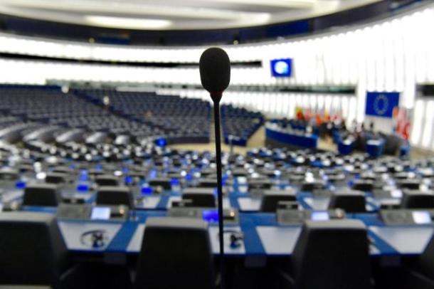 The European Parliament hemicycle in Strasbourg (Copyright: European Union, 2017 / Source: EC - Audiovisual Service / Photo: Mauro Bottaro)