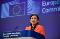 Statement of Vĕra Jourová, Member of the EC, on EU consumer rules. © European Union , 2018 / Photo: Jennifer Jacquemart.