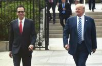 US Treasury Secretary, Steven Mnuchin Traveled with President Donald Trump to Missouri to Discuss Tax Reform. (November 28, 2017, US Department of Treasury photo).
