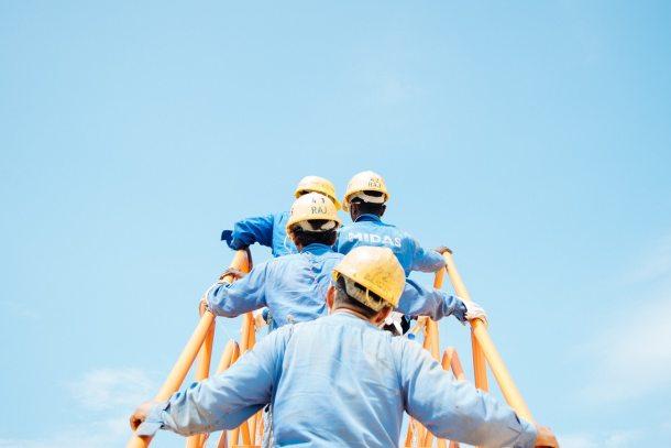 workers stairway