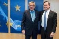 Jean-Claude Juncker, President of the EC, received Mario Draghi, President of the European Central Bank (ECB). © European Union , 2016 / Source: EC - Audiovisual Service / Photo: Etienne Ansotte.