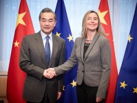 EU Mogherini China Wang 2019 March Brussels