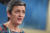 Margrethe Vestager, Member of the EC in charge of Competition, will held a press conference on an antitrust case.The European Commission has fined Google €1.49 billion for breaching EU antitrust rules. Google has abused its market dominance by imposing a number of restrictive clauses in contracts with third-party websites which prevented Google's rivals from placing their search adverts on these websites. © European Union, 2019.