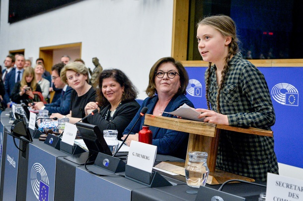 Climate activist Greta Thunberg urges MEPs to put words into