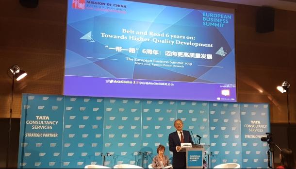 Ambassador Zhang Ming 2019 Chinese Mission to EU European Business Summit 2019