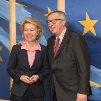 Jean-Claude Juncker, President of the EC, received Ursula von der Leyen, German Federal Minister for Defence. Date: 09/04/2015.. Location: Brussels - EC/Berlaymont. Photographer: Georges Boulougouris. © European Union, 2015. Source: EC – Audiovisual Service