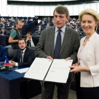Ursula Von der Leyen, President-elect of the EC, at the Plenary session of the EP Ursula Von der Leyen, President-elect of the EC, at the Plenary session of the EP