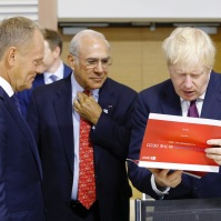 From left to right: Mr Donald TUSK, President of the European Council; Mr Boris JOHNSON, UK Prime Minister. Copyright: European Union Event: EU @ G7 Summit 2019