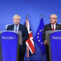 Visit of Boris Johnson, British Prime Minister, to the EC Date: 17/10/2019. Location: Belgium, Brussels - EC/Berlaymont. © European Union, 2019 Source: EC - Audiovisual Service. Photographer: Jennifer Jacquemart