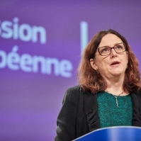Cecilia Malmström, Member of the EC in charge of Trade, holds a press conference on the EU Trade agreements implementation report. European Union, 2019 Source: EC - Audiovisual Service