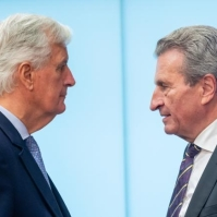 Michel Barnier & Günther Oettinger. European Union, 2019 Source: EC - Audiovisual Service.