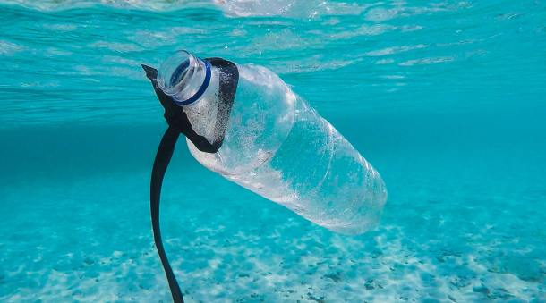 plastic pollution bottle
