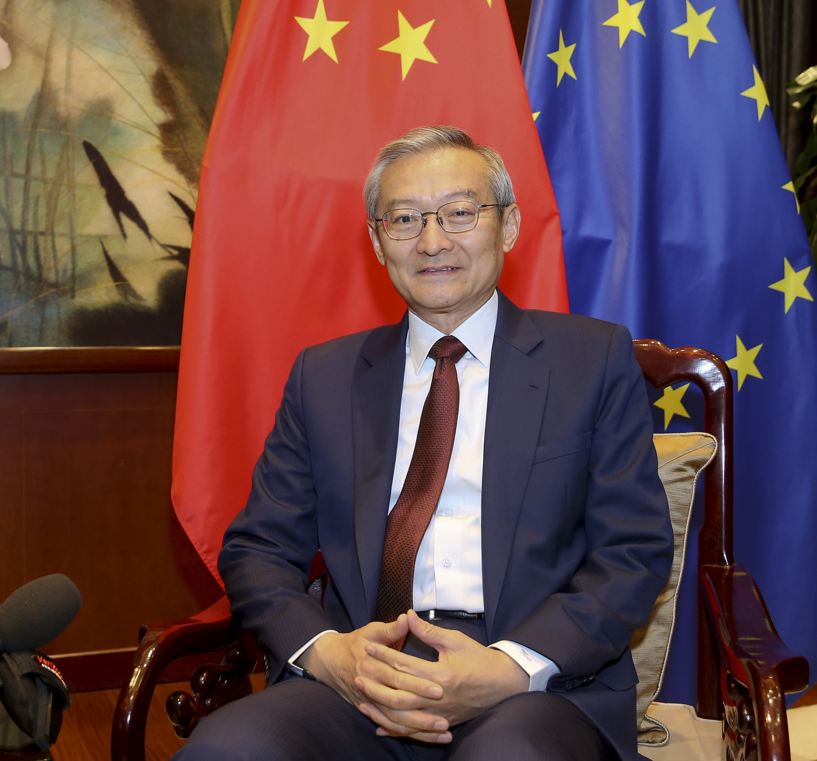 Ambassador Zhang Ming of Chinese Mission to EU 2020