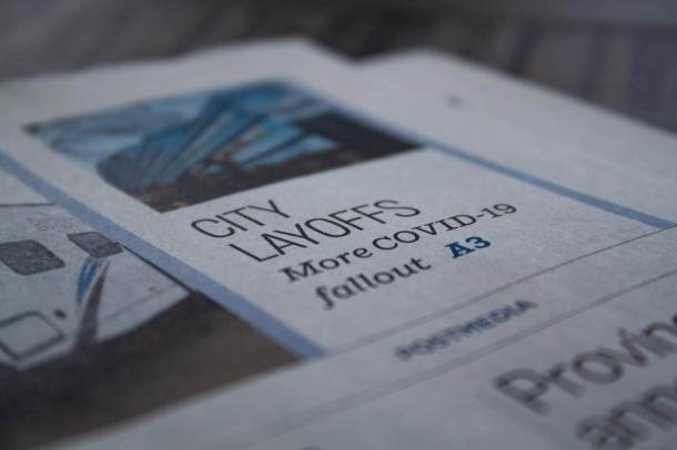 COVID newspaper