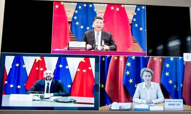President Xi Jingping President Michel President von der Leyen 22nd China-EU Summit